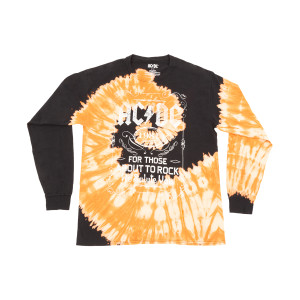 AC/DC For Those About to Rock Tie Dye Longsleeve T-shirt