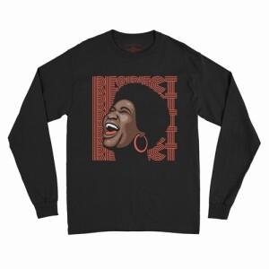 Aretha Respect Hoops Long Sleeve T-Shirt