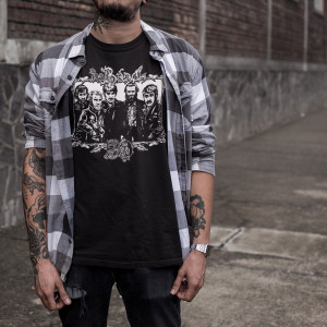 The Band 50 Illustrated T-shirt (Black)