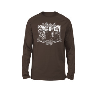 The Band 50 Illustrated Longsleeve T-shirt (Brown)