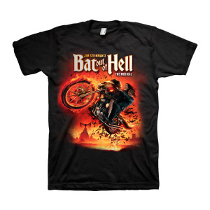 Bat Out Of Hell Men's Black Dateback T-Shirt