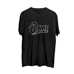 Bowie Outline Black T-shirt