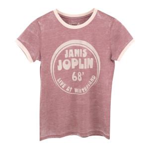 Janis Joplin 68' Live at Winterland Heather Rose Women's Ringer T-Shirt
