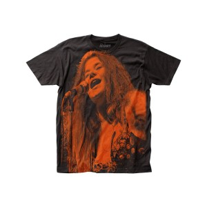 Janis Joplin Big Print Subway T-shirt