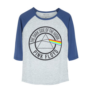 Pink Floyd Dark Side of the Moon Blue/Grey Raglan