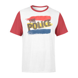 The Police White Raglan T-shirt