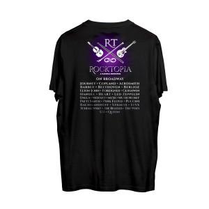 Rocktopia on Broadway Logo Black T-Shirt