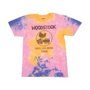 Woodstock Peace, Love, Music Tie Dye Tee