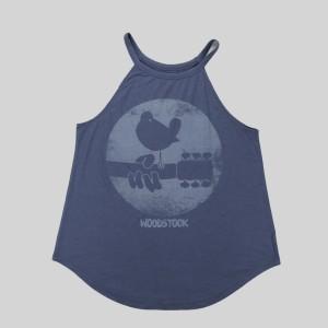 Ladies Distressed Logo Powder Blue Tank