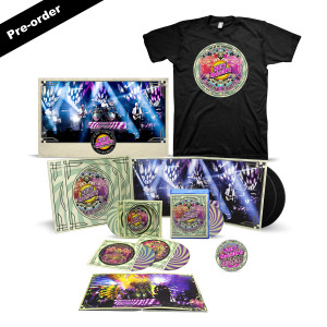 Nick Mason's Saucerful of Secrets Live At The Roundhouse Limited Edition Signed Poster + Set List T-shirt + Round Logo Magnet + Choice of Media Ultimate Bundle