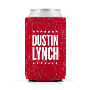Red Camo Dustin Lynch Can Hugger