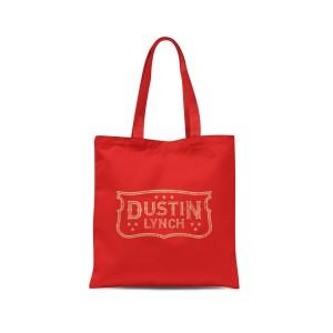 Dustin Lynch Emblem Red Tote
