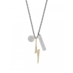 The Breaker Lightning Bolt Silver Necklace