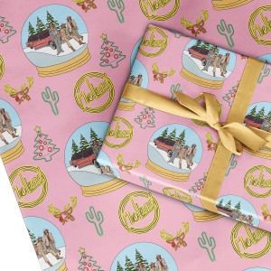 Neon Snowglobe Wrapping Paper