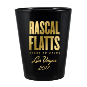 Rascal Flatts Night to Shine Las Vegas Shot Glass