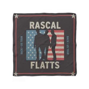 American Flag Silhouette Bandana