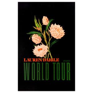 Lauren Daigle 2020 World Tour Poster