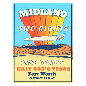 Billy Bob's Texas Signed Lithograph