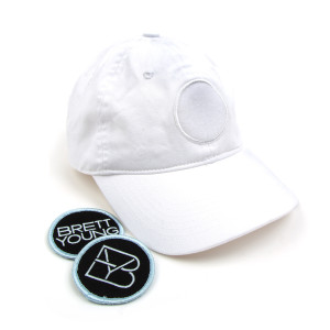 Brett Young C.Y.O. Patch White Dad Hat (2 Patches Included)