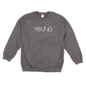 Grey Brett Young Lightweight Logo Crewneck