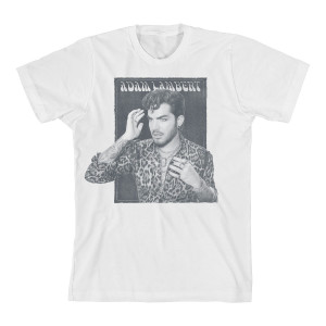 Adam Lambert Faded Box White T-Shirt