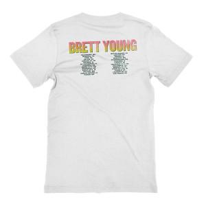 White Palm Tree Dateback T-shirt
