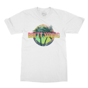 White Palm Tree Dateback T-shirt