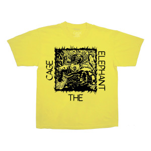 Dice Sketch Yellow T-Shirt