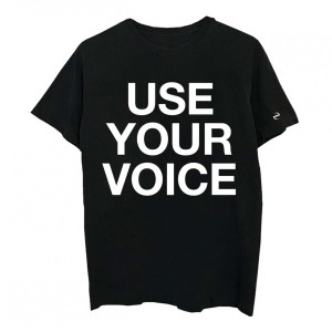 Use Your Voice Black T-shirt