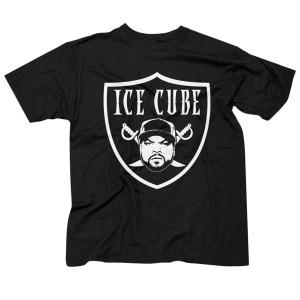 Ice Cube Shield Logo Black T-Shirt