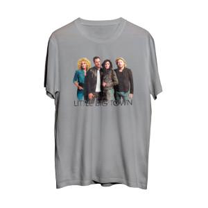 Light Gray Distressed Band Photo T-Shirt