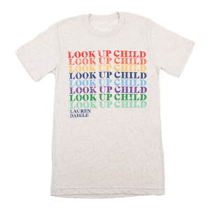 Rainbow Look Up Child Oatmeal T-Shirt