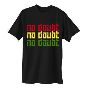 Rasta No Doubt Logo Black T-Shirt