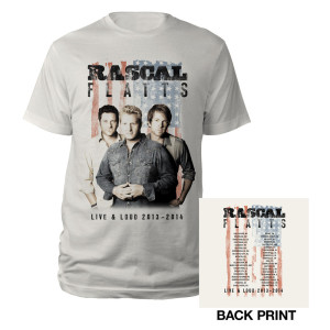 Live & Loud Natrual Flag T-Shirt