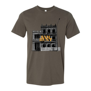 Downtown 2018 Tour Army Green T-shirt