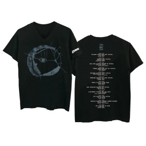 Eyemoon Black V-Neck T-Shirt