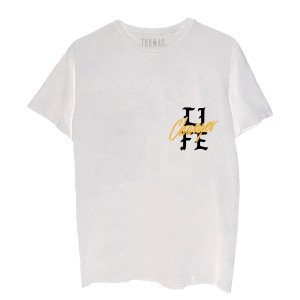 Life Changes Tour Dateback White T-Shirt