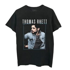 Framed Photo Tour Dateback Black T-Shirt