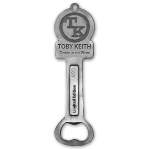 "Toby Keith: ""Drinks After Work""  Bottle Opener"