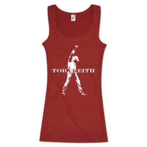 Toby Keith LIVE Ladies Crimson Tank Top