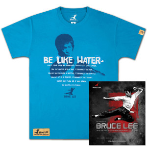 The Treasures of Bruce Lee Book/Be Like Water T-shirt Bundle