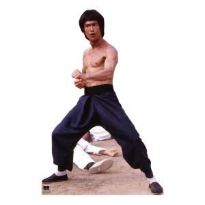 Bruce Lee Fighting Stance 67x44 Cardboard Standup