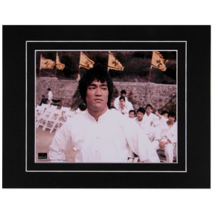 """Bruce Lee Fighting Stance Matted 8x10"""" Photo"""
