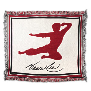 Bruce Lee Flying Man Tapestry Throw
