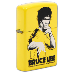 Bruce Lee Yellow Suit Splatter Lemon Zippo