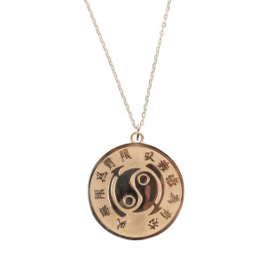 "Bruce Lee Core Symbol 10k Yellow Gold Medallion w/ 18"" Chain - A Bruce Lee Store Exclusive"