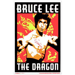 Bruce Lee The Dragon Blacklight Poster