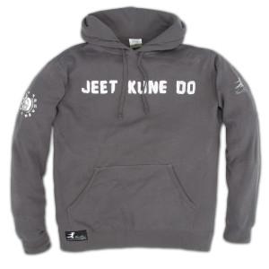 Bruce Lee JKD Kangaroo Hoodie Charcoal LS/LG