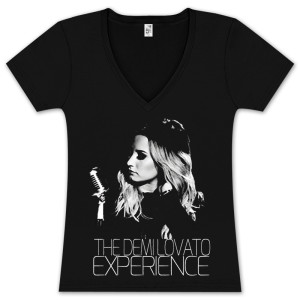 Demi Lovato Experience Ladies V-Neck T-Shirt