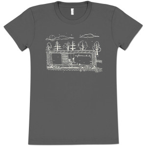 Explosions In The Sky Women's Grey Train T-Shirt